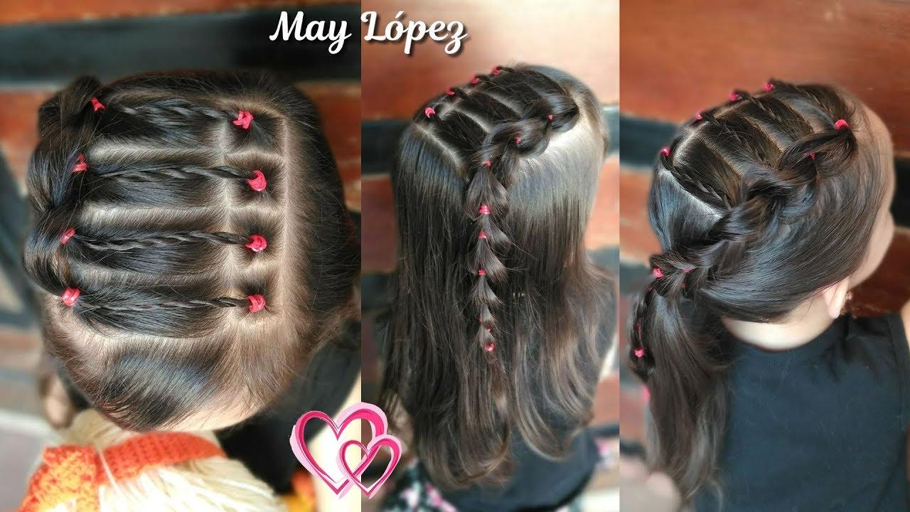Peinados faciles con cabello recogido para ninas